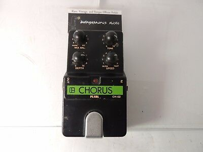 Rare Pearl Ch-02 Chorus Effects Pedal Incredible Tone Vintage Free Usa Shipping