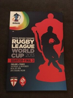 RLWC 2013 England v France QF with ticket
