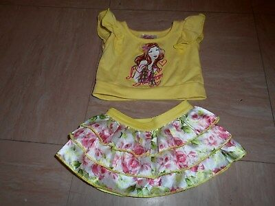 Justice For B.a.b.w. ~ Clothes ~ Pretty Skirt & Top In Yellow ~ Gd/cond.