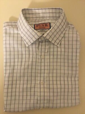 "Mens Thomas Pink Double Cuff Shirt size 16.5"" Excellent Condition"