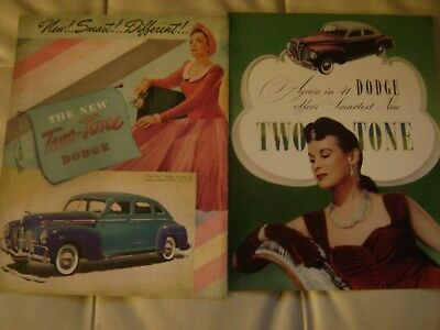 1940 and 1941 Dodge brochures