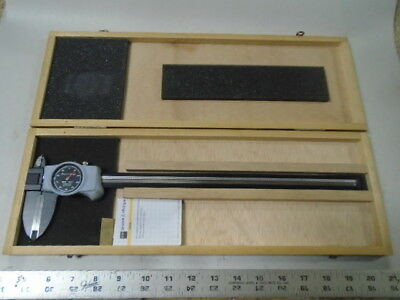 Light Weight  TOOLS LATHE MILL Brown & Sharpe Black Face Dial Caliper Gage 12""