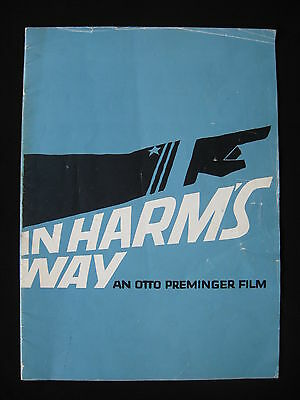 IN HARM'S WAY 1965 Rare souvenir movie programme John Wayne Kirk Douglas