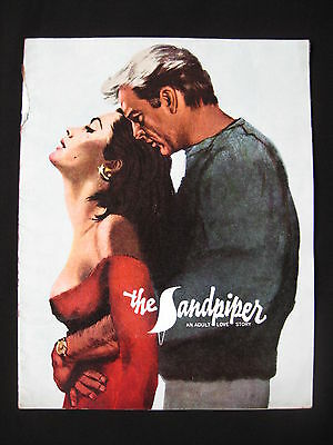 THE SANDPIPER 1965 Rare movie programme Elizabeth Taylor Richard Burton