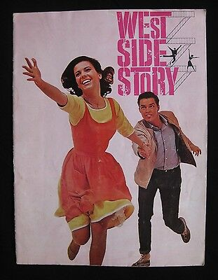 WEST SIDE STORY 1961 Original movie programme Natalie Wood Russ Tamblyn musical