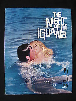NIGHT OF THE IGUANA 1964 Rare souvenir movie programme Richard Burton Sue Lyon
