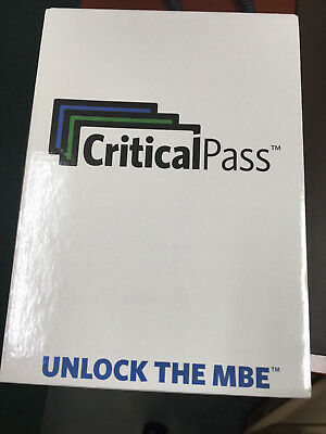 BRAND NEW unopened Critical Pass MBE Bar Review Flashcards!