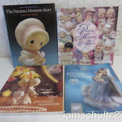 Lot of 4 Vintage Precious Moments Books ~ Hard and Soft Cover ~ 9-1/2 Pound Box!