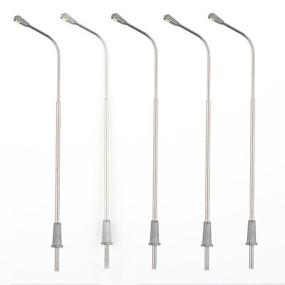 5x 1:75 Model Trains Metal Light Poles Wired LED Lighted Street Lamp Single Head