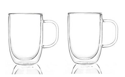 Pyrex Double Wall Glass Mug Twin Pack 250ml