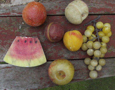Nice Lot Stone Fruit, Watermelon, 2 Plum, Apricot, Apple, Grapes, Orange NoResv