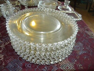 Lot of11 Vintage IMPERIAL GLASS CANDLEWICK Clear dinner plates