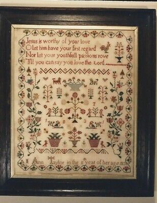 Reproduction Kit of a British Antique Sampler ~ Ann Taylor 1831