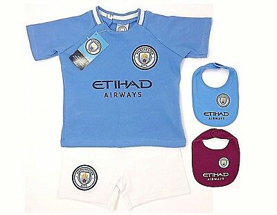 Manchester City Fc 2018 Babies T Shirt Shorts Set Kit Baby Short Sleeve Mcfc Man