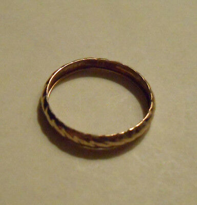 Estate Solid 10K Yellow Gold Wedding Band Ring Sz 7 9K 10KT 375 No Scrap Jewelry