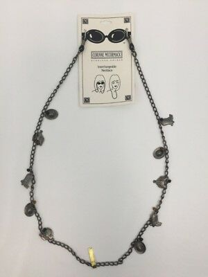 Corinne McCormack Eyeglass Holder Necklace Silver Cowboy Western Theme Charms