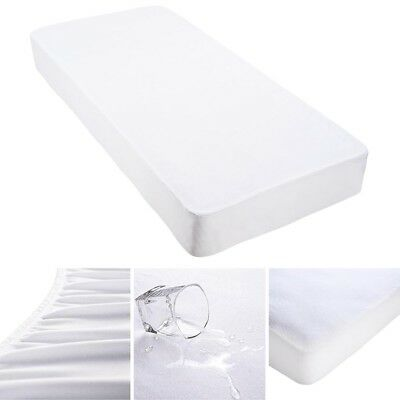 Mattress Cover Protector Cotton Terry Waterproof Hypoallergenic Fitted Twin Bed
