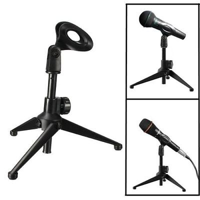 Adjustable Metal Desktop Table Mic Microphone Clamp Clip Holder Stand Tripod New