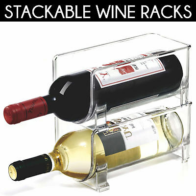 Kitchen Wine Holder Fridge Refrigerator Wine Bottle Rack Container Space Saver