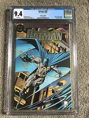 1993 DC Batman #500 Collector's Edition Die-Cut Foil Cover KNIGHTFALL Azreal CGC