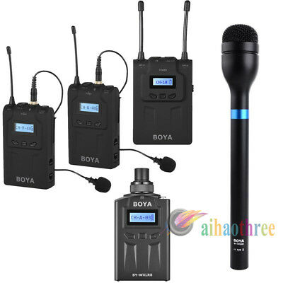 3in1 BOYA BY-WM8 + BY-WXLR8 Transmitter + BY-HM100 Handheld Microphone Kit【AU】