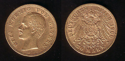 20 Mark Gold Bayern Otto 1900