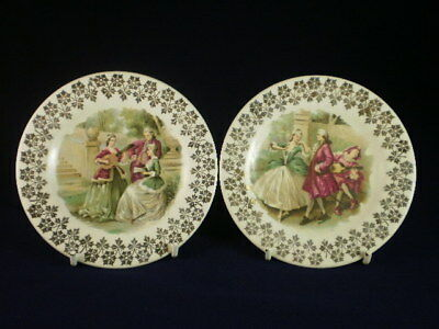 Staffordshire Courting Couple Small Dishes X 2