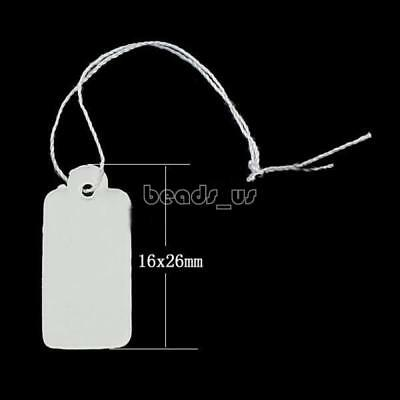 Wholesale 500PCS White Blank Paper Jewelry Clothes Label Price Tags With String