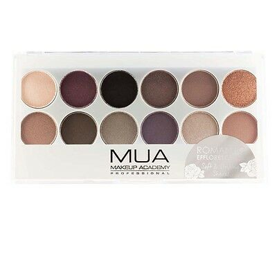 MUA Romantic Efflorescence 12 Shade Eye Shadow Palette 9.6g New Sealed