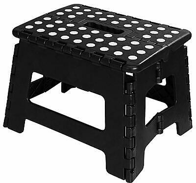 "Folding Step Stool for Kids 11"" Wide 9"" Tall Plastic 300lbs Capacity Utopia Home"
