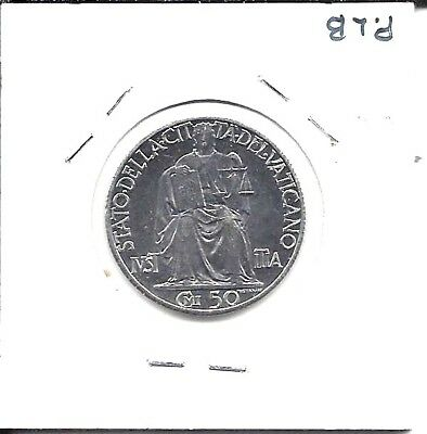 Vatican City KM34 1942 50 Centesimi  UNC
