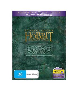 Hobbit : The Desolation of Smaug (Extended Edition) NEW Blu-Ray + DVD