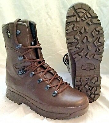 Haix Full Leather Brown Boots Army Hunting Hiking Military Surplus Assault Work