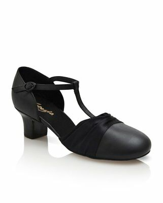 "Capezio 1.5"" Heel Flex Character Shoe, dance or ballroom, Black, NEW, Style 562"