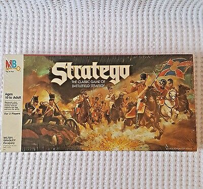 NEW Stratego 1986 Classic Board Game Battlefield Strategy Factory Sealed RARE!