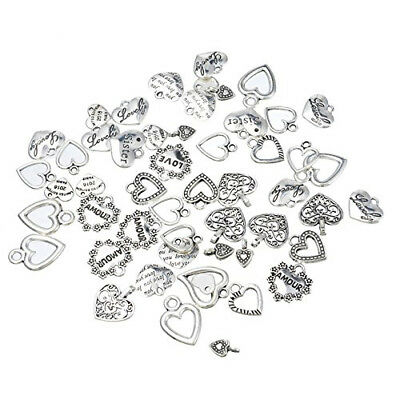 30pcs Mixed style Heart Pendants Charms Findings - Jewellery Making Finding Q4O5