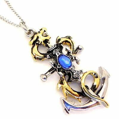 Drake's Leviathan Anchor Pendant Necklace Lost Treasures of Albion LT07 Blue
