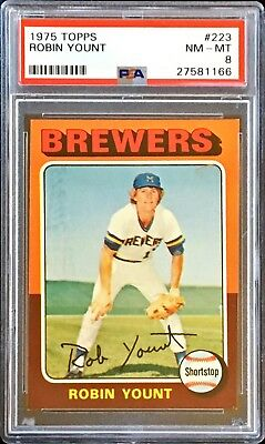 1975 TOPPS Robin Yount Rc Rookie #223 PSA 8 NM MT