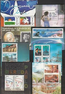 CHILE, Lot mit ** Block 14, 15, 16, 17, 18, 19, 20, 21, (17918)