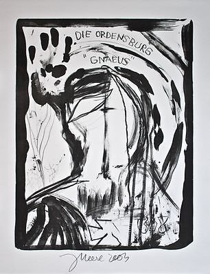 "Jonathan Meese - Die Ordensburg ""Gnaeus"" - Lithographie - 2003"