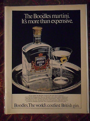 1981 Print Ad Boodles British Gin ~ More than Expensive The World's Costliest