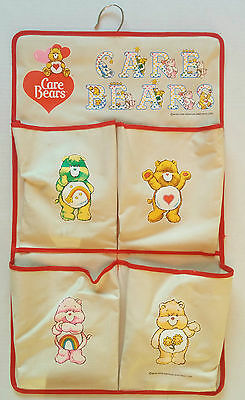 Vintage Care Bears hanging storage caddy pocket Child cloth carebears 1983