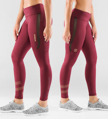 Virus Women's Bioceramic™ Mesh Compression Pants (EAU33) Maroon. Crossfit Gym
