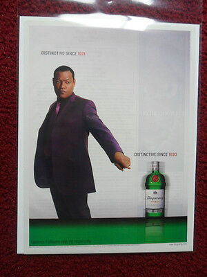 2003 Print Ad Tanqueray Gin ~ Laurence Fishburne THE MATRIX