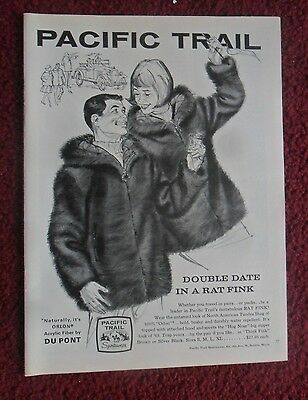 1965 Print Ad Pacific Trail Sportswear Fashions ~ Double Date in a Rat Fink ART