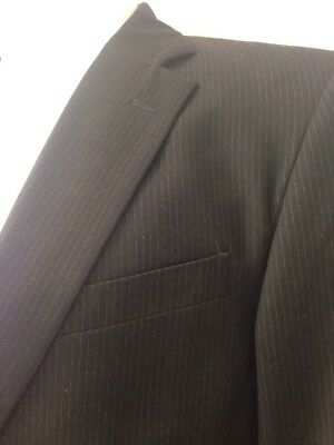 Dockers Black Pinstripe Blazer Suit Coat 40-42 Business Event Work Party Gala