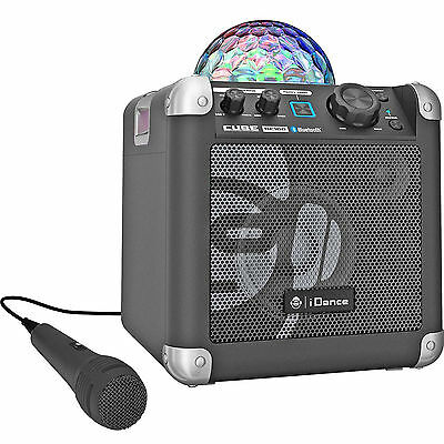 iDance Cube BC100 Bluetooth Karaoke System with Built-in Light Show SR