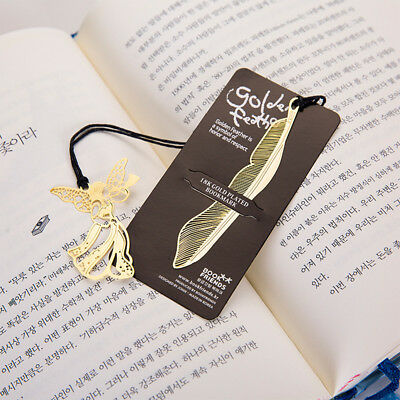 Gold Plated Metal Hollow Animal Feather Bookmark Book Paper Reading Accessories