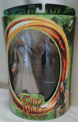 Lord of The Rings Fellowship Of Ring Saruman Action Figure Set 2001 Toybiz Boxd