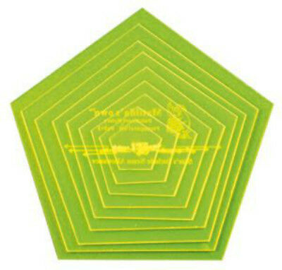 Pentagon (5 sided) quilting template sets